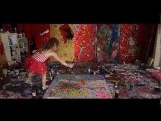 A beautiful video of what happens when you let children be themselves without interfering in their art.
