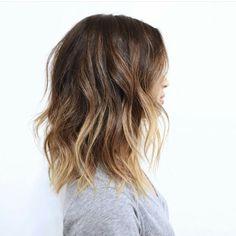 Hair ombre lob