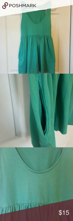 Urban Outfitters Green Shirt Small Silence and Noise by Urban Outfitters,Green Shirt Small, Sleeveless, has pockets. Bundle 2 and save  20%!! Urban Outfitters Tops Tank Tops