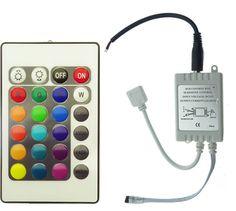 Controllerul RGB 6A pentru banda LED de 12V este proiectat pentru a administra jocul de lumini a 5 metri de banda LED RGB. Este dotat cu 24 taste pentru maxima flexibilitate in programe. Led, Music Instruments, Bands, Musical Instruments