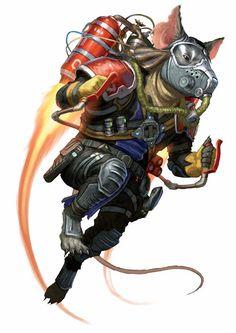 Quig, Iconic Ysoki Bounty Hunter Mechanic - Starfinder RPG (Core Rulebook Art)