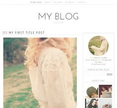 #FREEDOWNLOAD!   Cop this very pretty and minimal Blogger template from the Luvly Shop of Very Simple Design.