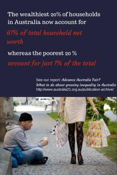 """Information from our report: """"Advance Australia Fair? What to do about growing inequality in Australia"""". Published by Australia21 in collaboration with The Australia Institute"""