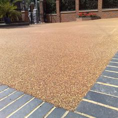 Resin bonded aggregate paving, resin bound gravel paving and surfacing supplied and installed by Ashlands Fencing. Resin Driveway, Resin Patio, Gravel Driveway, Gravel Path, Resin Bound Gravel, Resin Bound Driveways, Concrete Driveways, Aggregate Driveway, Walkways