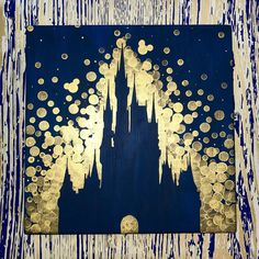 A Dream is a Wish... This is a pretty painting inspired by the Disney World Castle! It is hand painted on durable pine wood, measures 12 square, and comes ready to hang and display in your home! A lovely gift for the Princess in your life! I can customize this design using any