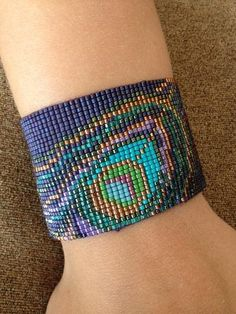 Peacock Feather Bracelet Made to Order by beadifuljewelry on Etsy, $65.00