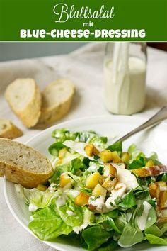 Blattsalat mit Blue-Cheese-Dressing und Kartoffel-Croutons | Madame Cuisine Rezept
