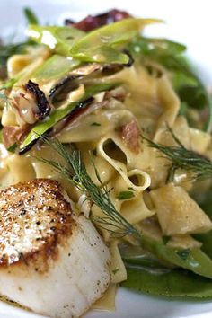 Pappardelle Pasta with Scallops #Recipe