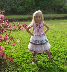 Little girls camo and lace. Something different for those Country Cuties, Weddings, Parties, Pageants, dressup or just for fun. on Etsy, $119.00