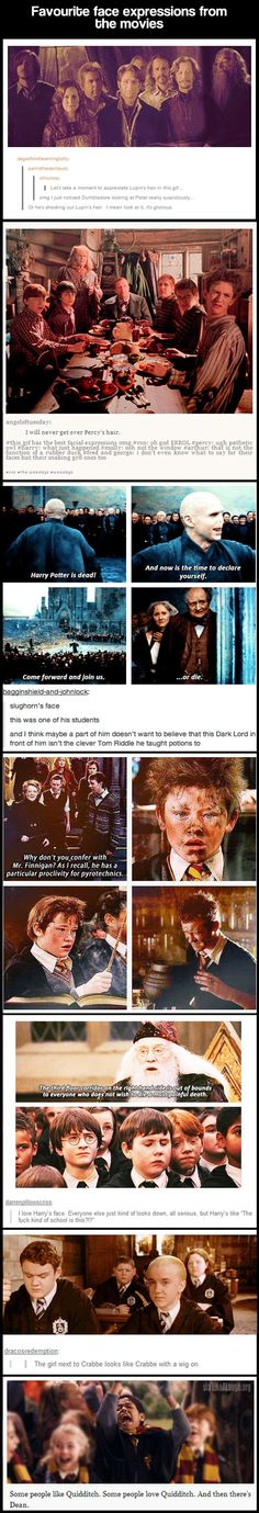 Lupin's hair is epic, Slughorn is heartbreaking, Harry's reaction to Dumbledore is priceless. AND THAT GIRL IS TOTALLY CRABBE IN A WIG.