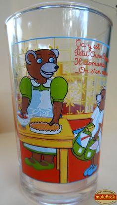 Verre Moutarde ... PETIT OURS BRUN (1988).  Petit Ours brun est le personnage de petites histoires illustrées par Daniele Bour. Ses histoires sont apparues pour la 1ère fois en 1975, dans les magazines Pomme d'Api, édités par Bayard, puis en série d'animation à la télévision, sur FR3 ... ... www.muluBrok.fr ...