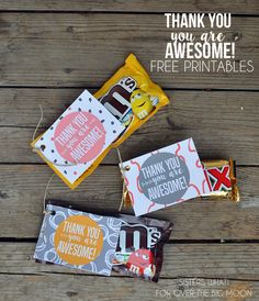 Thank You – You Are Awesome Gift Tags | Over The Big Moon | Bloglovin'