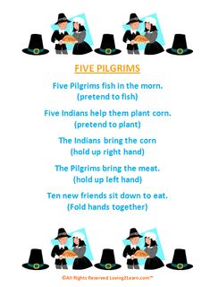 poem of pilgrims and indians | Thanksgiving Poems for Kids: Great Poems & Read Along Videos