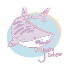 Awesome 'love+shark.' design on TeePublic!