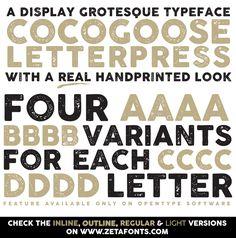 Cocogoose Letterpress Schriftart | dafont.com