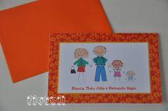 Cartão duplo – Família floral laranja  :: flavoli.net - Papelaria Personalizada :: Contato: (21) 98-836-0113 vendas@flavoli.net