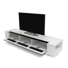 Tv Stand Low Off White.