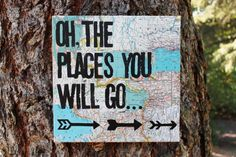 READY TO SHIP  12x12 oh the places you will go... Dr. by Houseof3