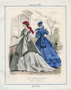 Le Follet November 1866 Casey Fashion Plates Detail   Los Angeles Public Library