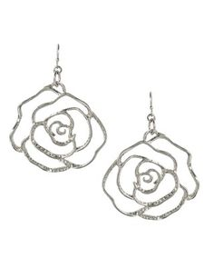 Marlena Rose Earrings in Rhodium