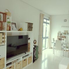 テレビボード/IKEA/リビングのインテリア実例 - 2015-07-01 15:10:34 | RoomClip(ルームクリップ)