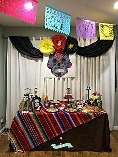 day of the dead party party ideas - Day Of The Dead Halloween Decorations