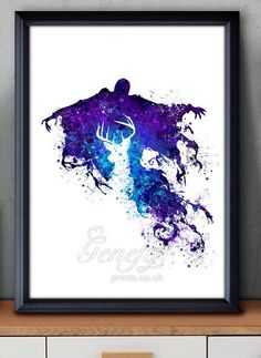 Harry Potter Dementor Watercolor Art Poster Print - Wall Decor - Watercolor Painting - Home Decor  - Kids Decor - Nursery Decor