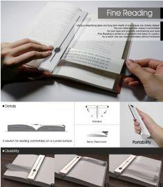 책갈피로 돋보기 기능을 가지고 있는 디자인
