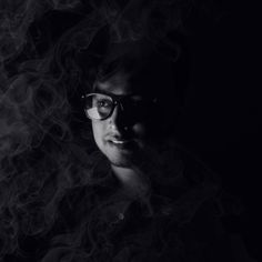 Smoky Portrait. #portrait #photography #blackandwhite #photographyideas #light #photo #varun #varunkanand #djvarun