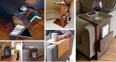 Sofa Chair Arm Rest With Side Storage Ideas