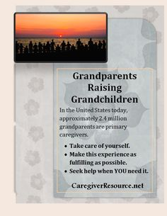 Grandparents Raising Grandchildren: Tips and resources on how to take care of yourself and get help. Grandparents Raising Grandchildren, Kinship Care, Family Images, Emotional Stress, School Counseling, Therapy Activities, Caregiver, Take Care Of Yourself, Parenting Hacks