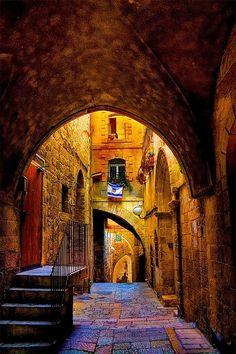 Callejón en el barrio judío ~ Ciudad Vieja Jerusalén