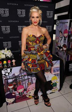 Gwen Stefani Strapless Dress - Strapless Dress Lookbook - StyleBistro