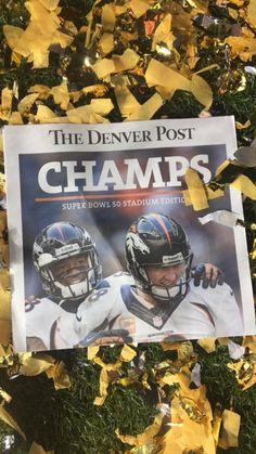 Extra! Extra! Denver Broncos win Super Bowl 50!