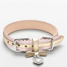 Coach dog collar - Now I HAVE to get a girl puppy!!! So cute!!