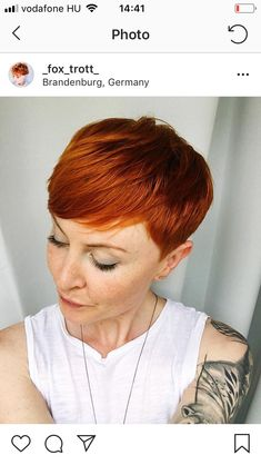 Black Pixie Cut for Thick Hair - 20 Sassy and Sexy Black Pixie Cuts - The Trending Hairstyle Short Copper Hair, Short Red Hair, Short Hair Cuts, Short Hair Styles, Pixie Cuts, Corte Pixie, Auburn Hair, Short Bob Hairstyles, Haircuts