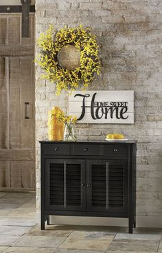 Spring Home Decor – Start at the very beginning and add a spring wreath and accents with a pop of color to your entryway. It is the perfect way to welcome guests and springtime into your home.
