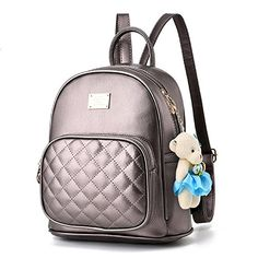 0563debc8665 Women Cute Leather Laides Shopping Casual Backpack Travle Backpack for Girls  Review. Designer School BagsLeather Backpack PurseLeather ...