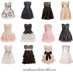 Cute dresses for prom...