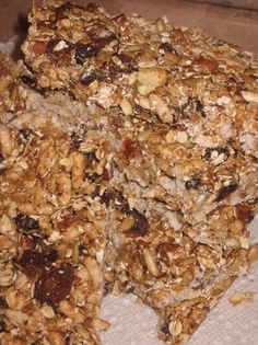 Almond apricot energy bars