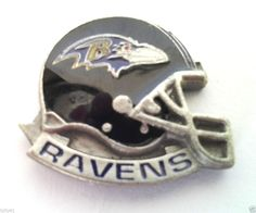 *** BALTIMORE RAVENS HELMET *** Novelty NFL Hat Pin P52036 EE