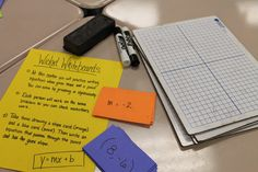 Terrific stations for slope and linear equations