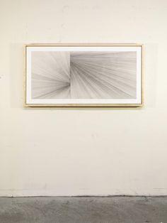 "untitled (slip/fold) 2011_07_17 graphite on gesso over wood panel 24"" x 48"" (60.96 x 121.92)cm Matt Niebuhr shop.mattniebuhr.com   Sold: Private Collection, Portland, Oregon USA (2014)"