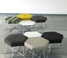 Cluster funiture from Naughtone. The dynamic design, is ideal if you want to make the most of you space.