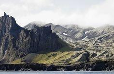 Beautiful coastline of Jan Mayen Island Norway