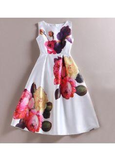 Fancy Readymade White Western Wear Dress - 101036