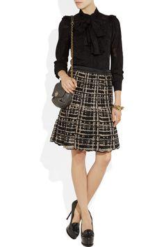 Etro|Flared open-weave skirt|NET-A-PORTER.COM