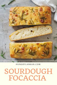 A super crispy and delicious sourdough focaccia recipe that hardly requires any sourdough bread making skills. Perfect for beginners. #focaccia #sourdough #easy #bake Sourdough Focaccia Recipe, Sourdough Recipes, Bread Recipes, Baking Recipes, Healthy Recipes, Bread Making, How To Make Bread, Easy Family Meals, Family Recipes