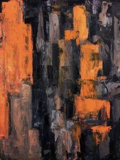 "Saatchi Art Artist Oleg Ti; Painting, ""Manhattan, Sunset"" #art"