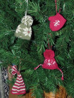 The Winter Warmers Christmas Ornaments are precious, smaller version of the cozy knits with which you outfit the ones you love on a regular basis. Knit Christmas Ornaments, Christmas Stocking Pattern, Christmas Knitting Patterns, Christmas Crafts, Crochet Patterns, Christmas Ideas, Country Christmas, Winter Christmas, Festival Decorations